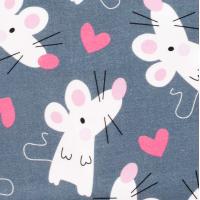 Tkanina bawełniana Zakochane myszki
