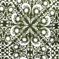 Tkanina bawełniana Chusta oliwkowa