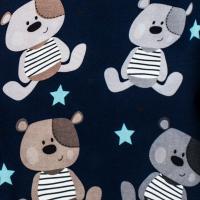 Tkanina bawełniana Misiek Teddy nocą