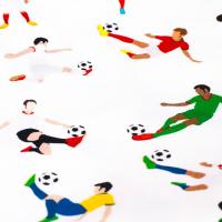 Tkanina bawełniana Piłkarze