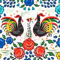 Tkanina bawełniana Kogut z Barcelos