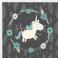 Tkanina bawełniana Ptasie budki lazurowe