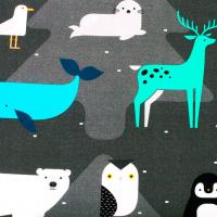 Tkanina bawełniana Drużyna Pingwina