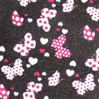 Tkanina bawełniana Motyle w czekoladzie