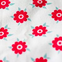 Tkanina bawełniana Czerwone kwiatki