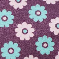 Tkanina bawełniana Kwiatki w czekoladzie