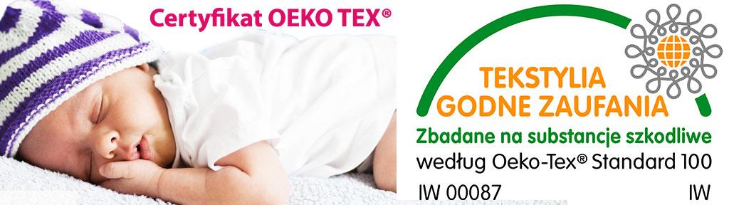 Certyfikat STANDARD 100 by OEKO TEX®